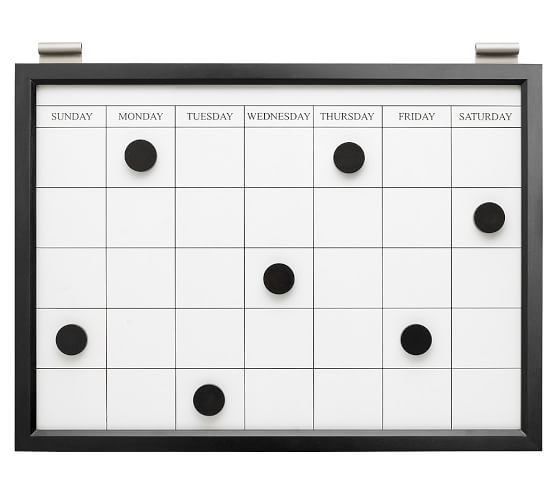 Daily System Magnetic Whiteboard Calendar Magnetic White