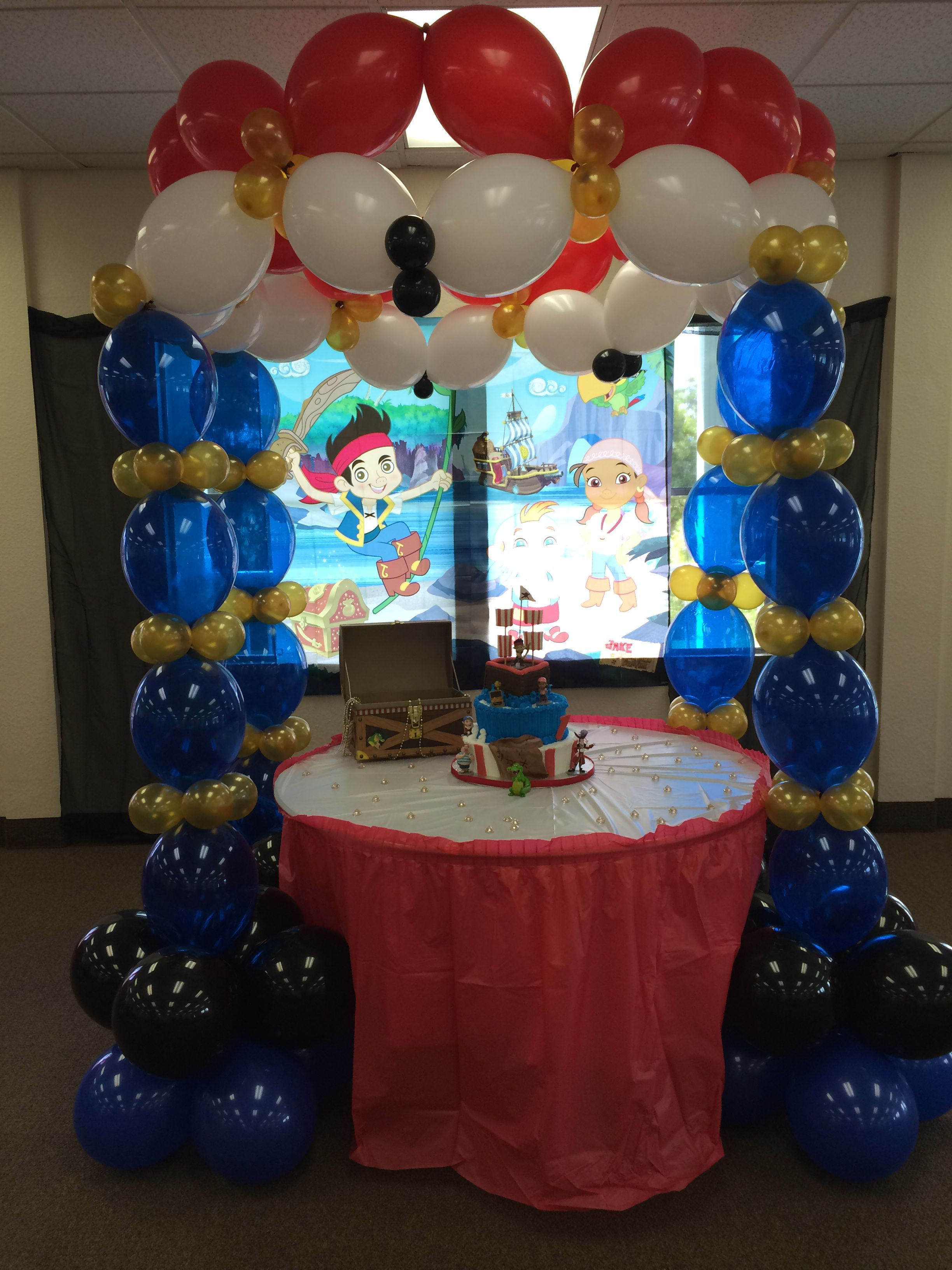Jake And The Neverland Pirates Balloons Decoration J E 1st Bday