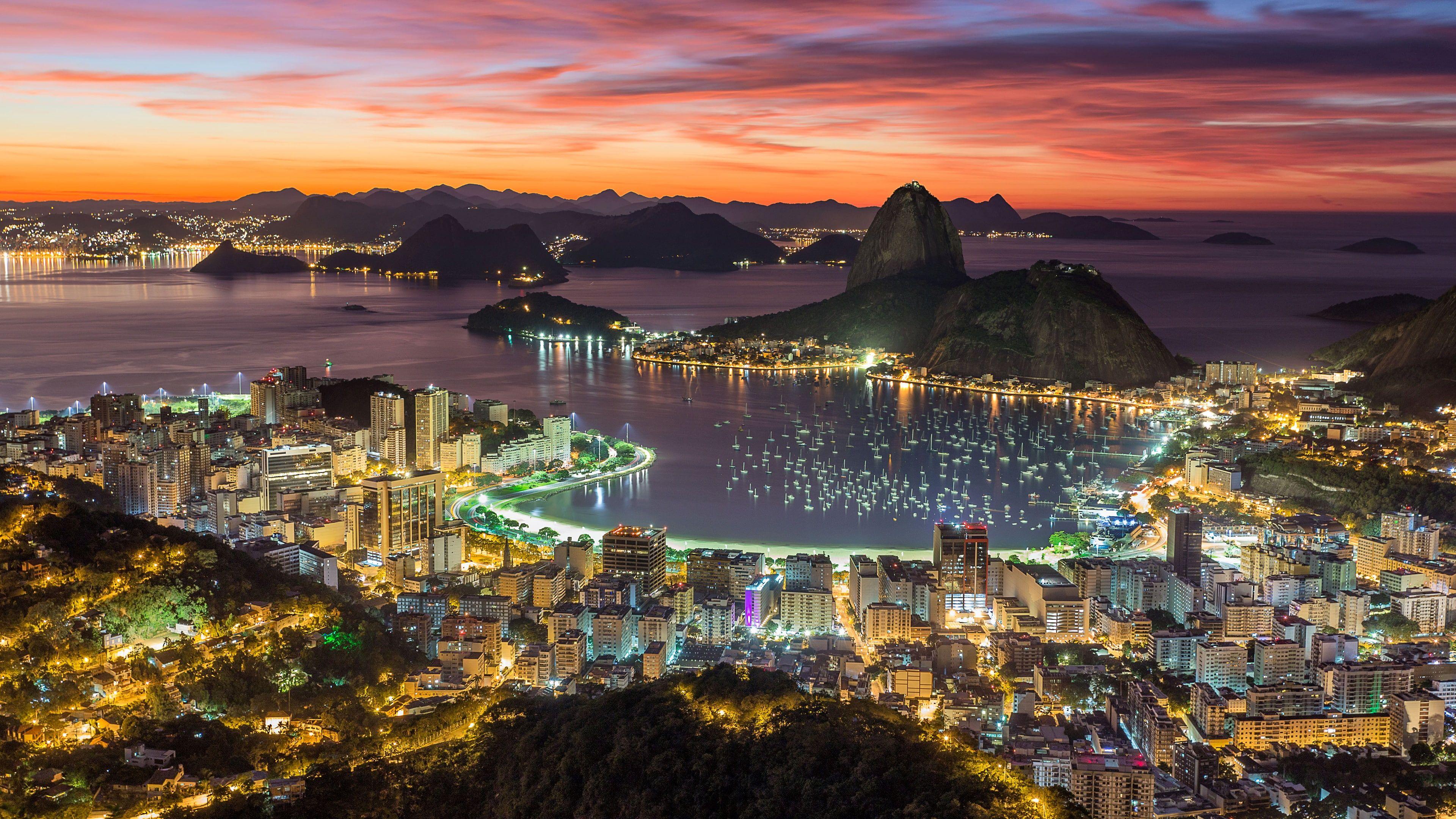 Sugar Loaf Mountain Botafogo Beach Rio De Janeiro Sunrise