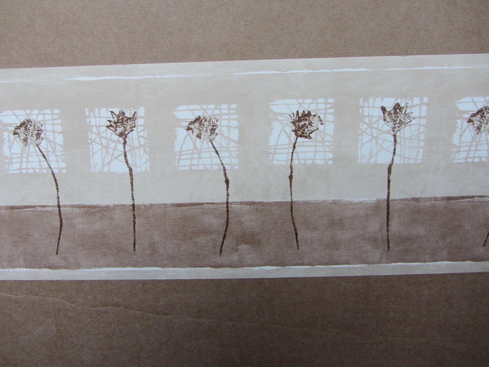 Modern meadow breeze mocha wallpaper border self adhesive stairs