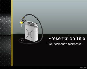 FREE Gas Can PowerPoint template is a free gasoline PPT template and