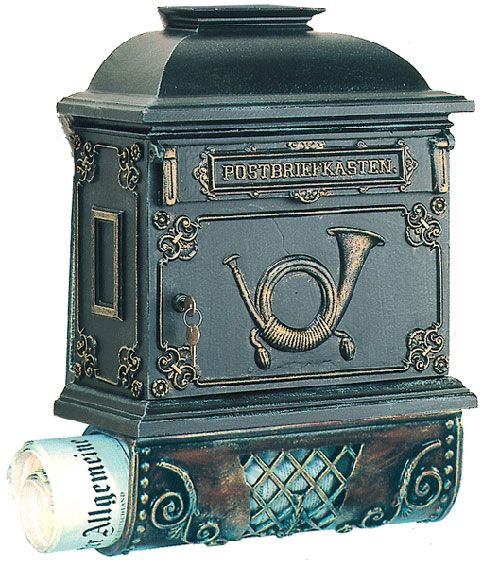 Fancy Mailbox With Newspaper Holder At The Bottom Newspaper Holder Vintage Mailbox Mounted Mailbox