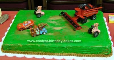 Coolest Disney Cars Frank the Combine Theme Cake