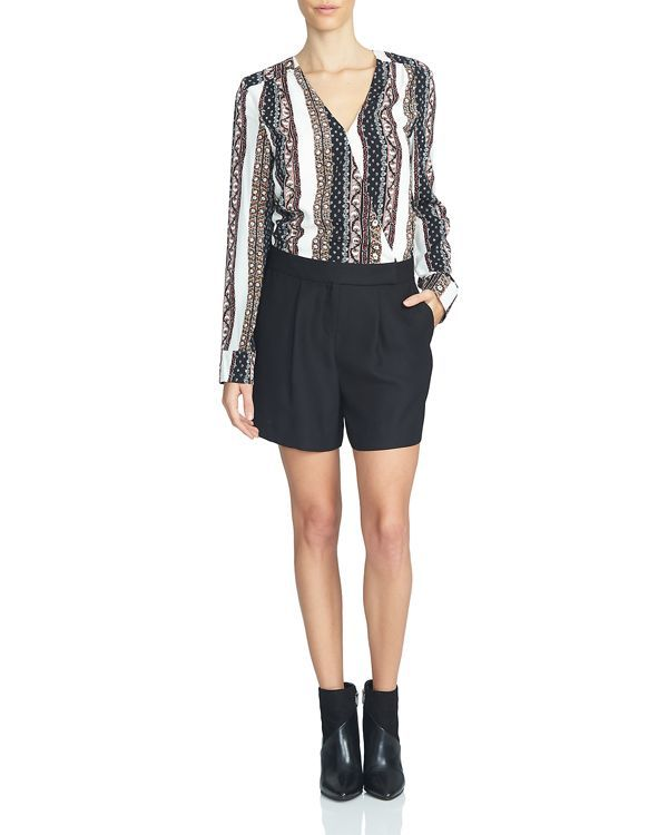 1.state Printed Faux Wrap Romper