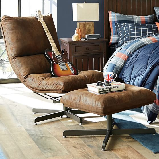 Trailblazer Maverick Swivel Lounge Chair Ottoman In 2020 Comfy Chairs Chair And Ottoman Chairs Loft