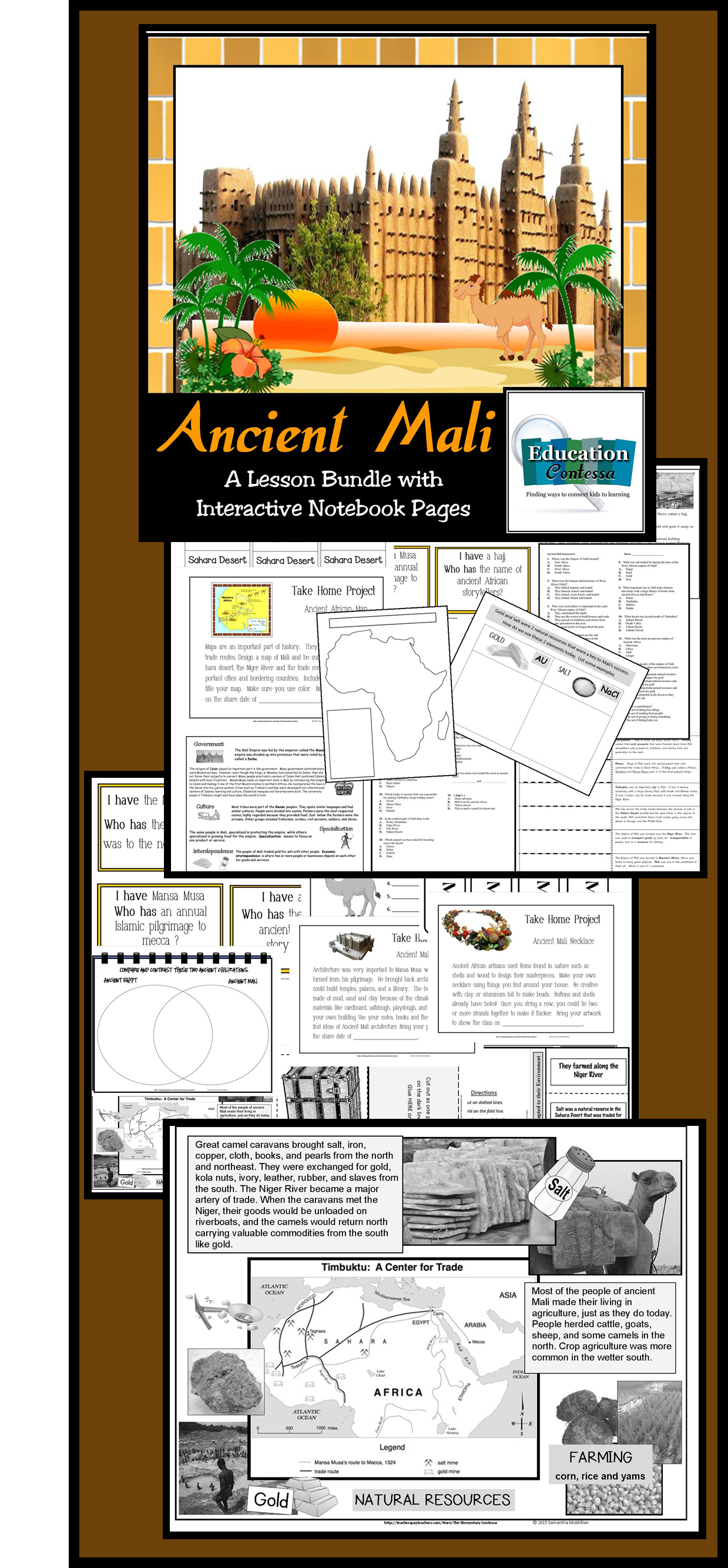 Ancient mali an elementary unit for virginia sol and national hands on fun while learning lots about ancient mali interactive notes venn diagram pooptronica Gallery