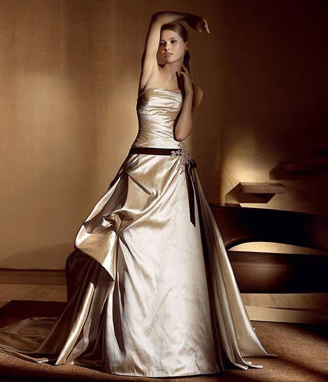 Vestido de novia tonos tierra | Vestidos de novias de colores ...