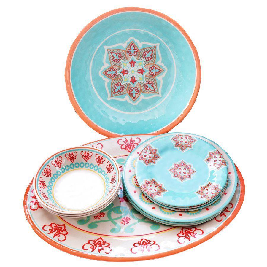 Melamine Dish Sets - Western Outdoor Dinnerware | Kitchen ...