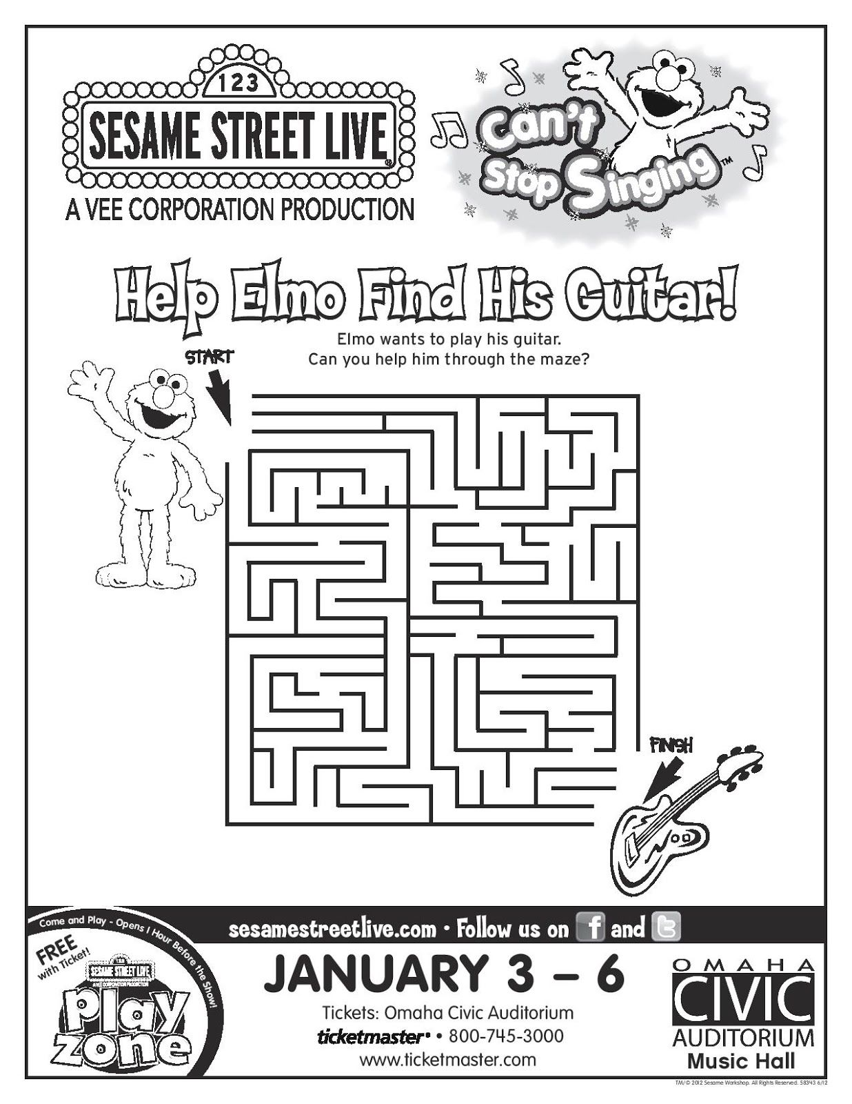 Sesame Street Worksheets Images