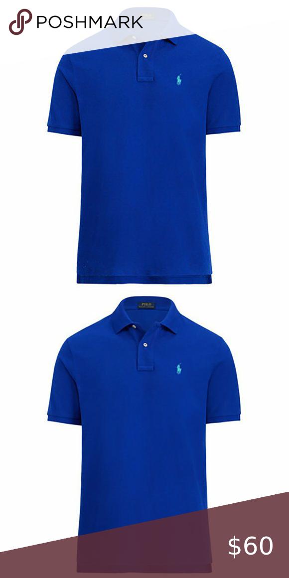 NWT Polo Ralph Lauren Men/'s Classic Fit  Mesh Polo Shirt T-Shirt Blue//Green