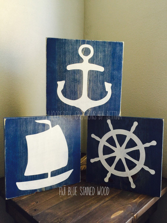 Nautical Nursery Rustic Wood Sign Nursery Decor Nautical