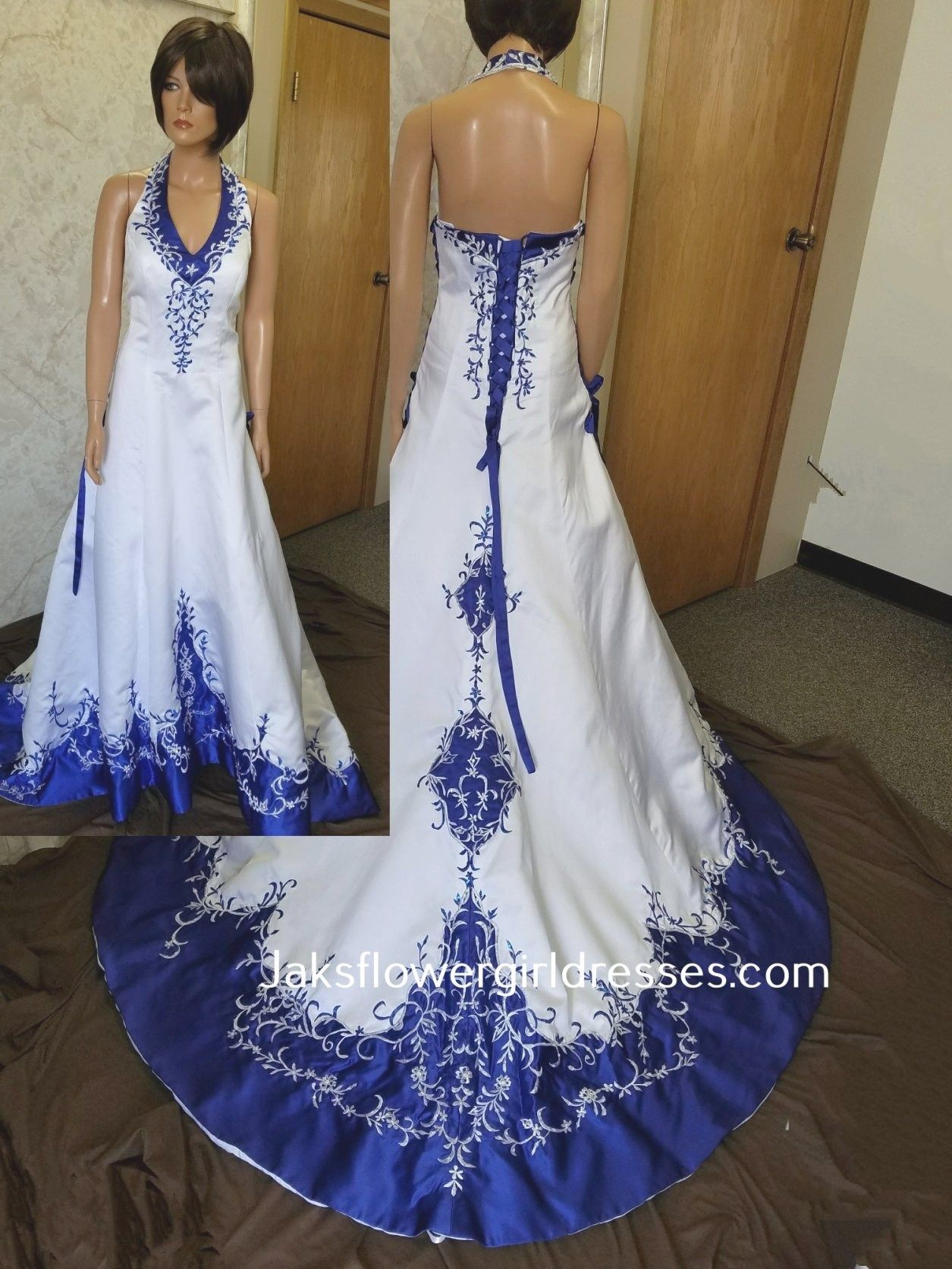 Blue And White Wedding Gowns