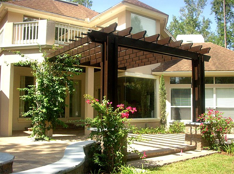 Small Patio Pergola Design ~ Something Like This On Front Deck, With Little  More Privacy. Maybe Trellis (w/ Plants) On Sides.