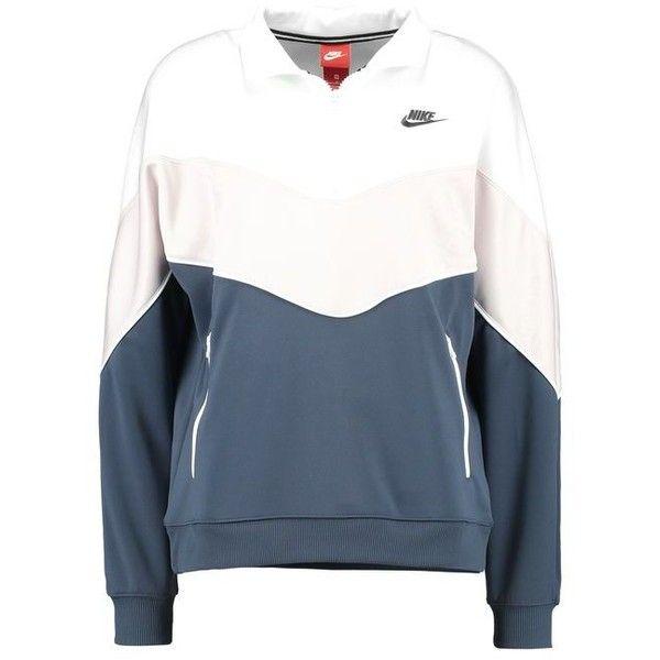 702c1c1c Nike Sportswear SOLID Sweatshirt ($83) ❤ liked on Polyvore featuring tops,  hoodies, sweatshirts, nike sweatshirts, nike, blue top, rose top and rose  ...