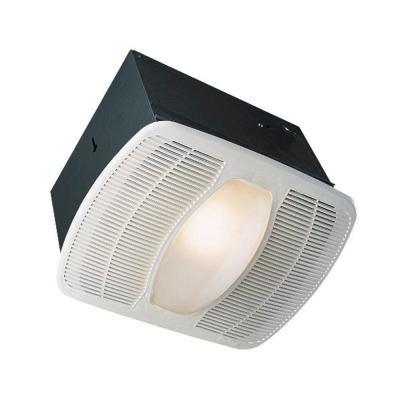 Air King Deluxe Quiet 100 Cfm Ceiling Exhaust Fan With Light Ak100l At The Home Depot Fan Light Bathroom Fan Light Exhaust Fan