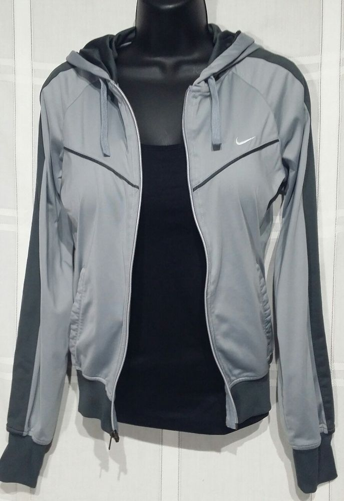 01868d64ac43 Womens Nike Jacket Extra Small Zip up Hoodie Gray XS Athletic Dept. Run  Active