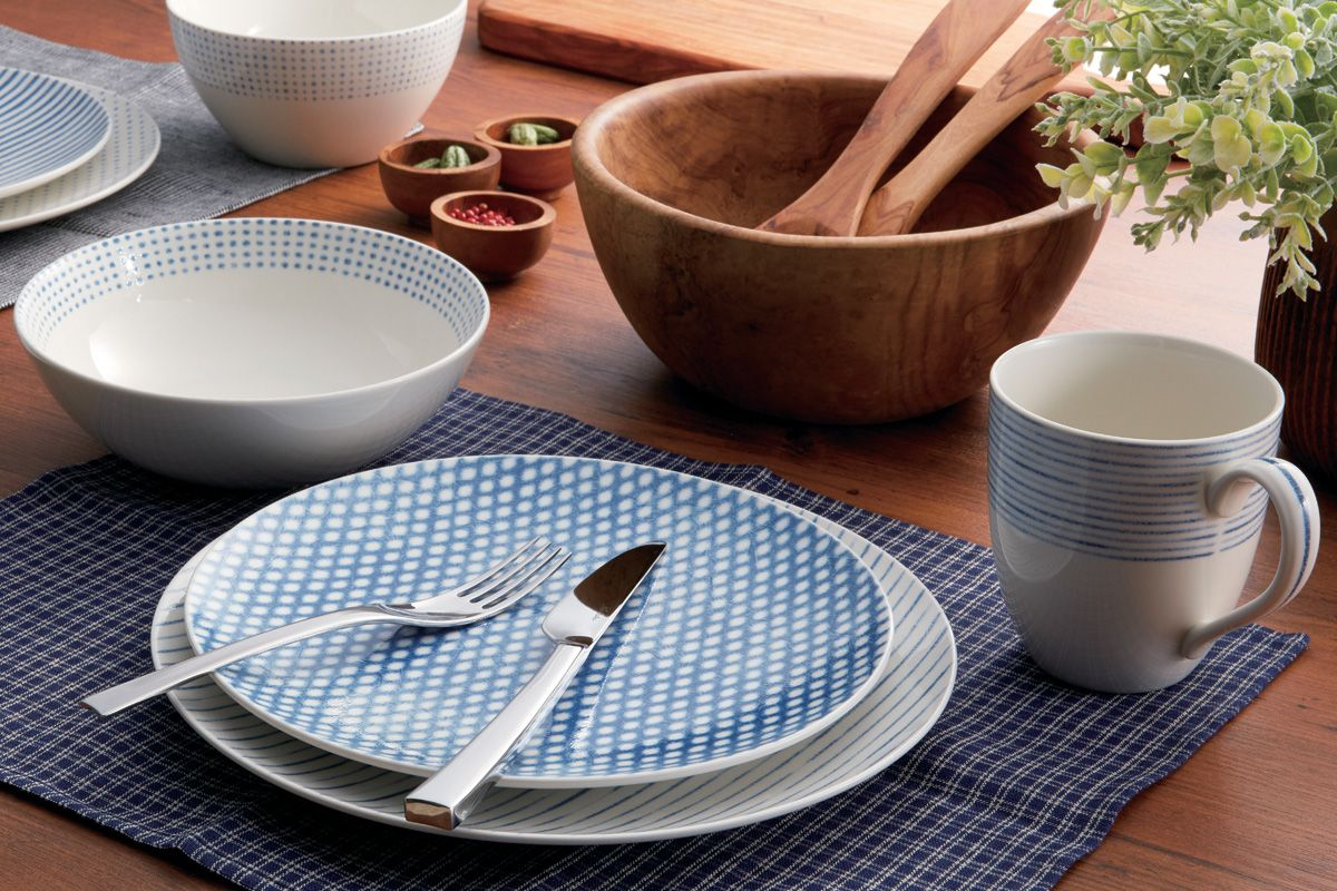 Blue Hammock by Noritake is now available exclusively at Macyu0027s! #noritake # dinnerware #mixandmatch #tablescapes & Noritake Blue Hammock Coupe Dots Appetizer Plate Created for Macyu0027s ...