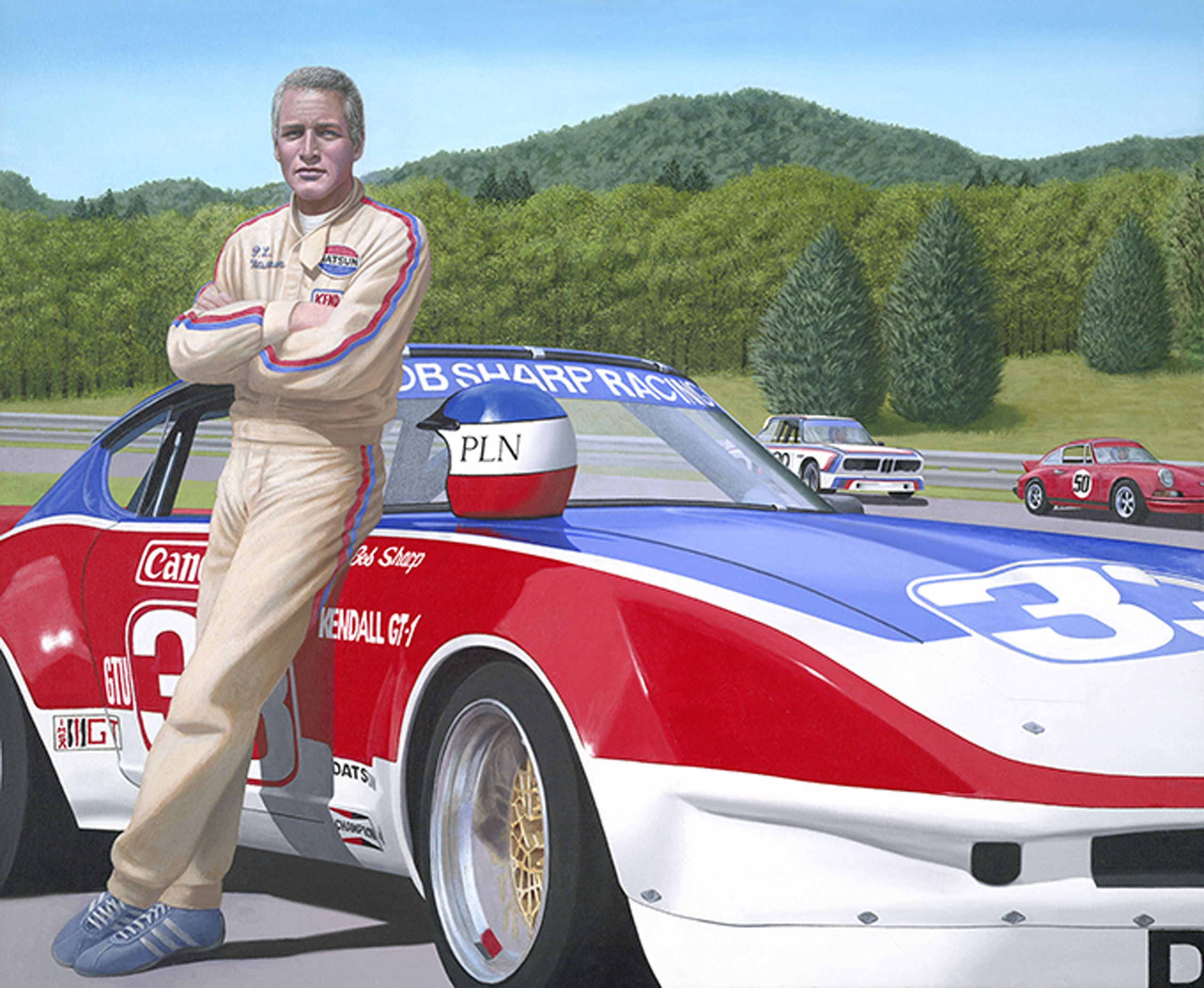 paul newman and the  33 bob sharp racing datsun  with images