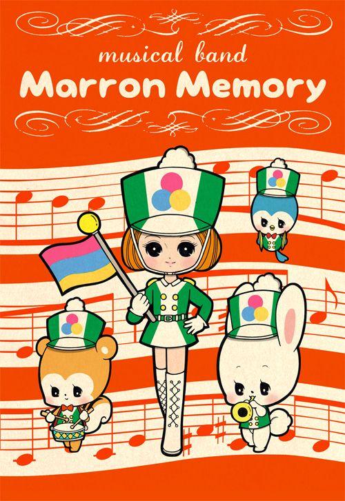 ミュージカルバンド 昭和少女漫画 Kawaii Illustration