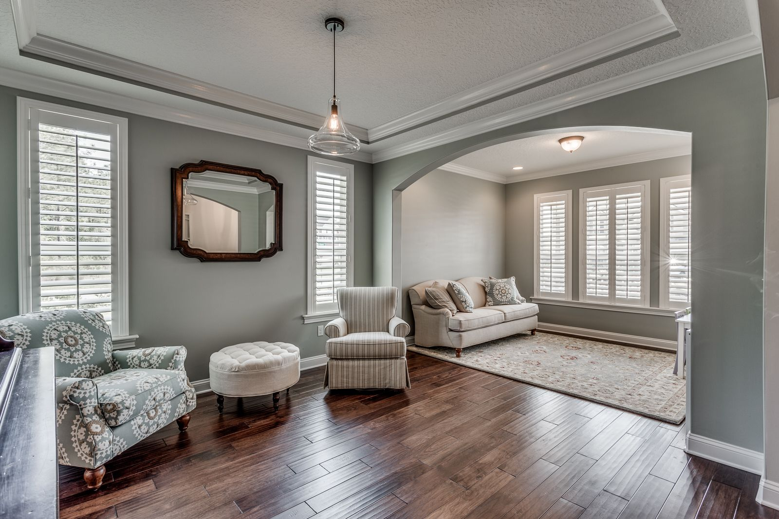 Front sitting room sherwin williams comfort gray sitting - Grey paint living room ...