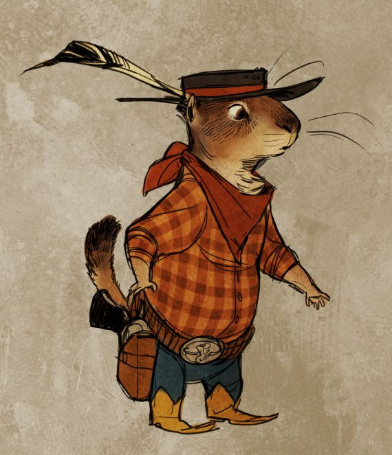 Western critters claire hummel character design arte del