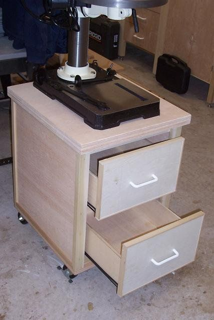 Rolling Drill Press Cart By Vincent Nocito Lumberjocks