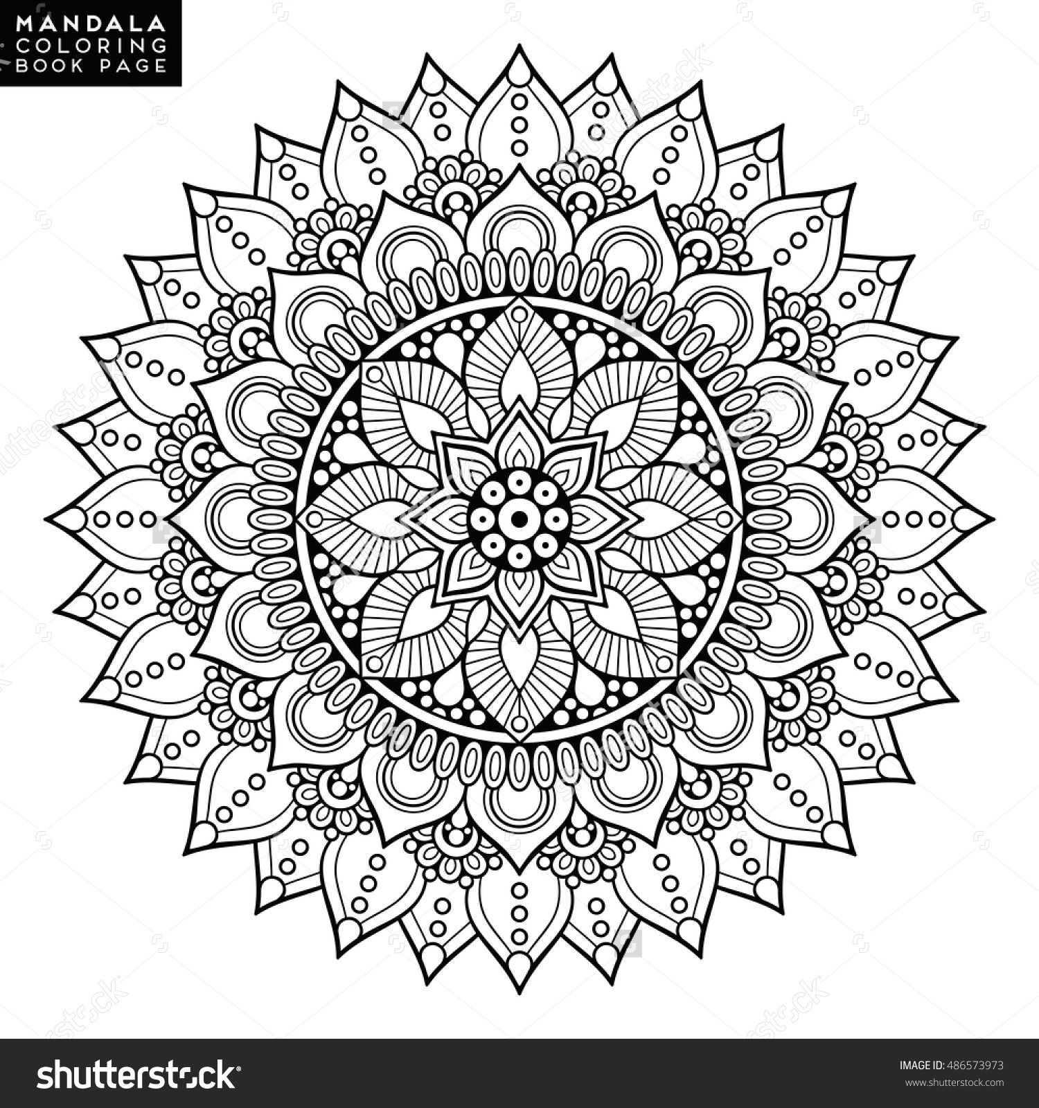 Flower Mandala Vintage Decorative Elements Oriental