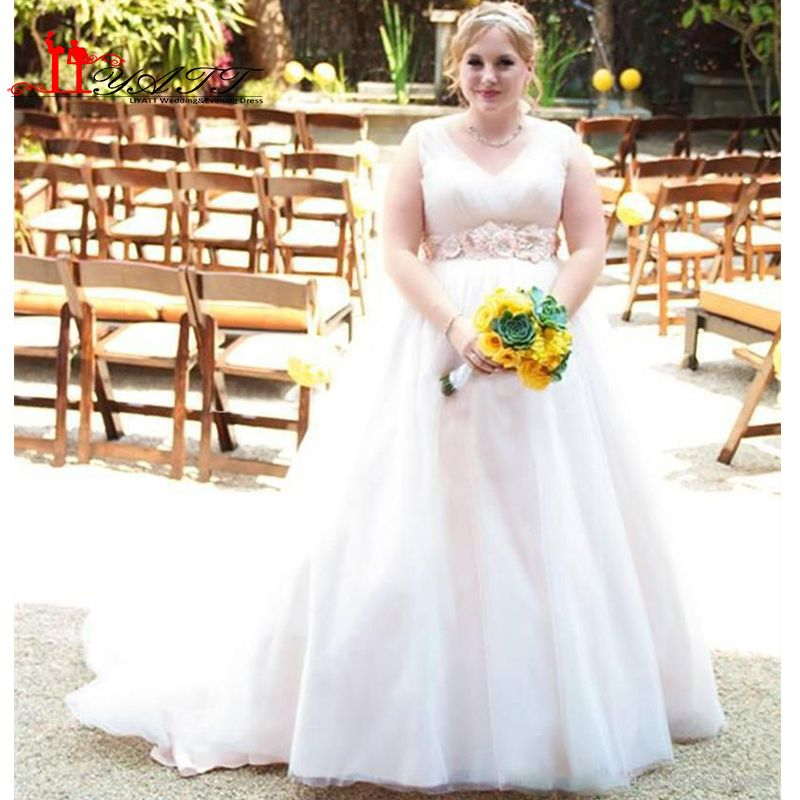 7436a21358 Find More Wedding Dresses Information about Tulle Plus Size Wedding ...