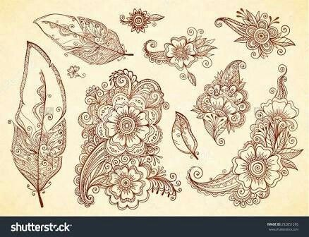 Henna Mehndi Vector : Pin by ugur güler on tattoo pinterest vector brush hennas and