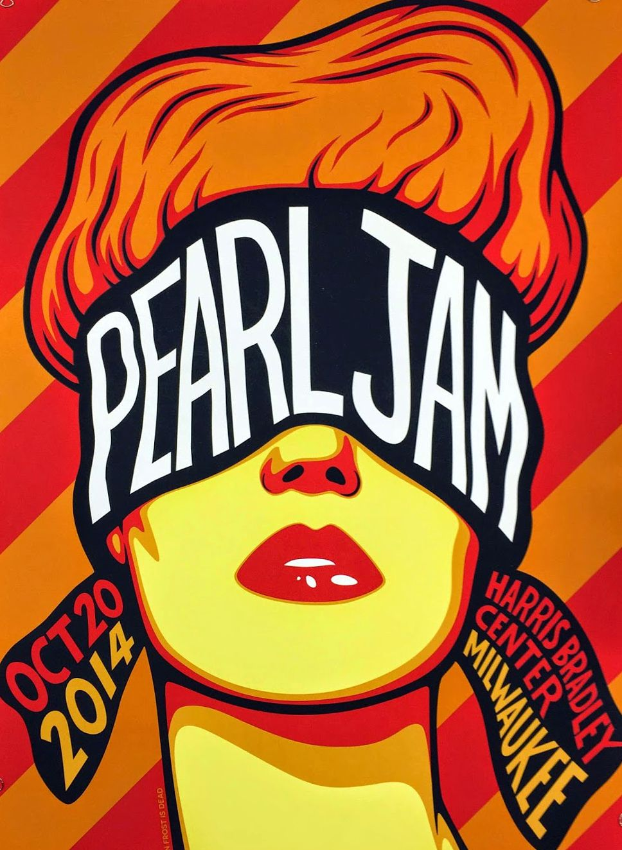Ben Frost Pearl Jam Milwaukee Poster Artist Edition On