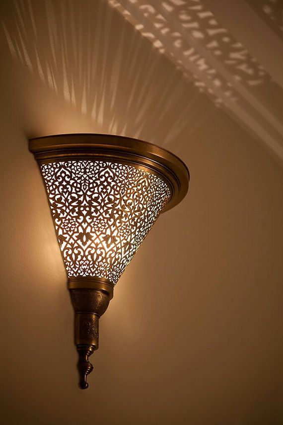 Beautiful Arabian Sconce Light Is Made Traditionally With A Lovely Geometrical Pattern Will Add To Your Home And Warm Touch