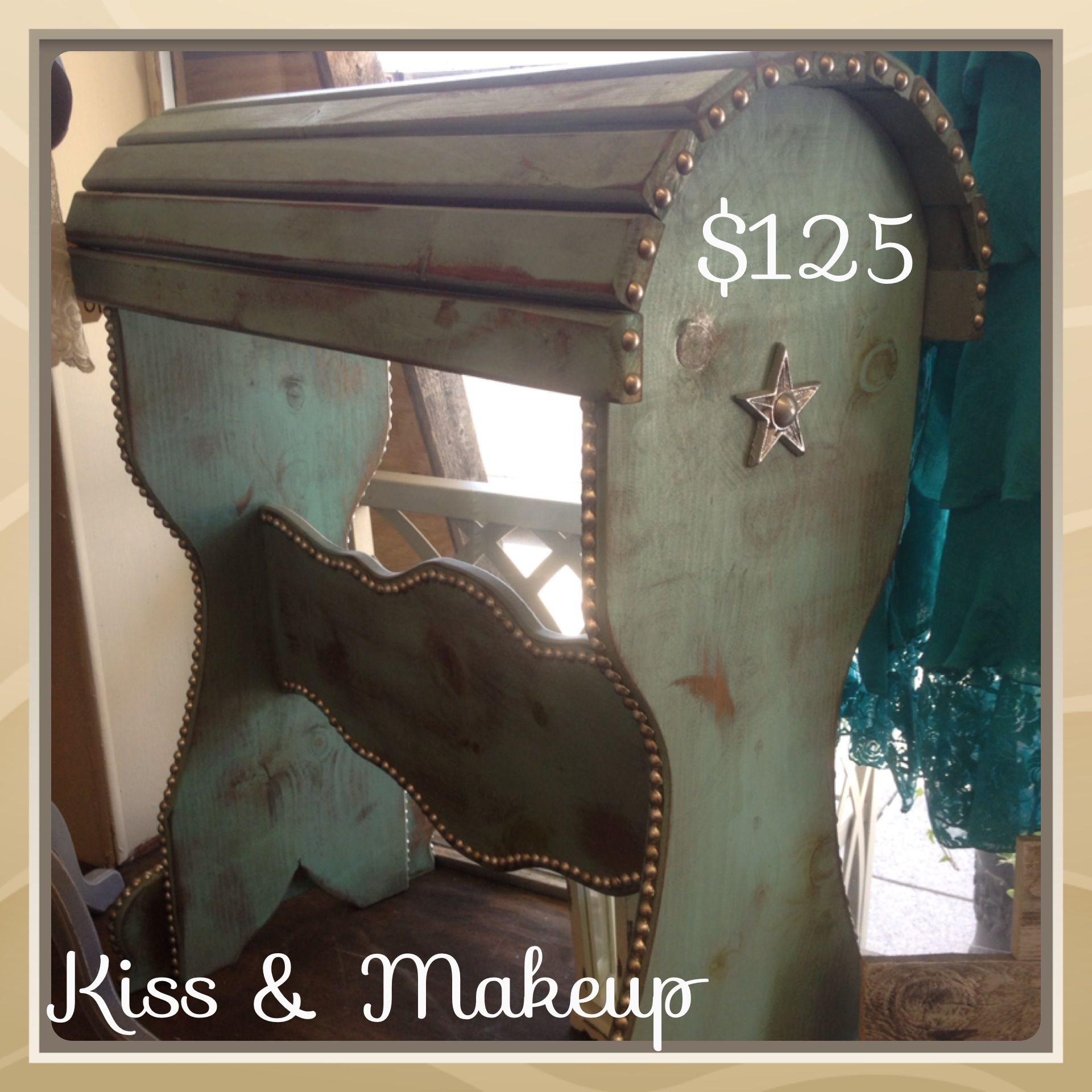 Beautiful saddle rack. $125.  Call Kiss & Makeup Boutique and Salon in Mckinney to purchase. 972-542-6785 Or follow us on Facebook!!  Or come see us.... 214 N. Kentucky McKinney, TX 75069
