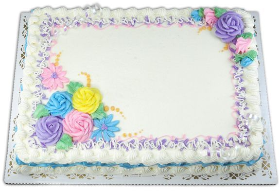 Full sheet cake For women and Watches on Pinterest Cake