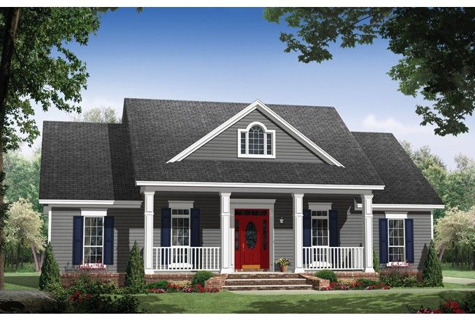 Country Style House Plan 3 Beds 2 Baths 1653 Sq Ft Plan 21 365 With Images Traditional House Plans