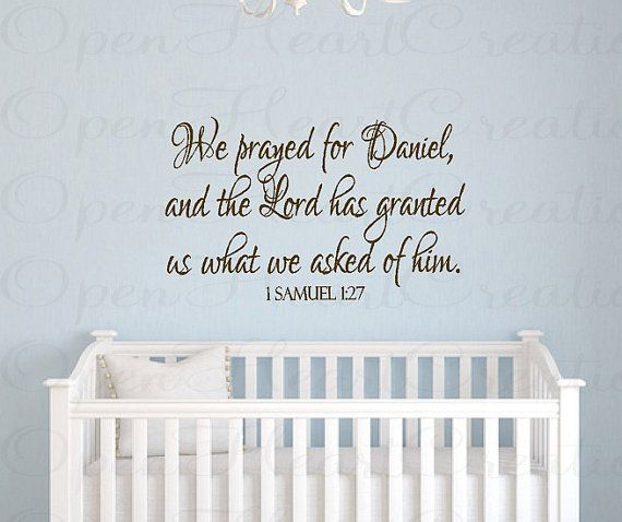Baby Nursery Wall Decals We Prayed For This
