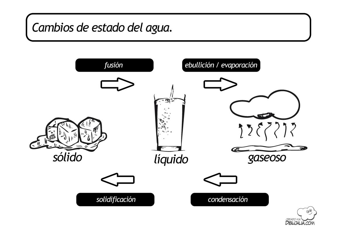 Cambios De Estado Del Agua Dibujalia Dibujos Para Colorear