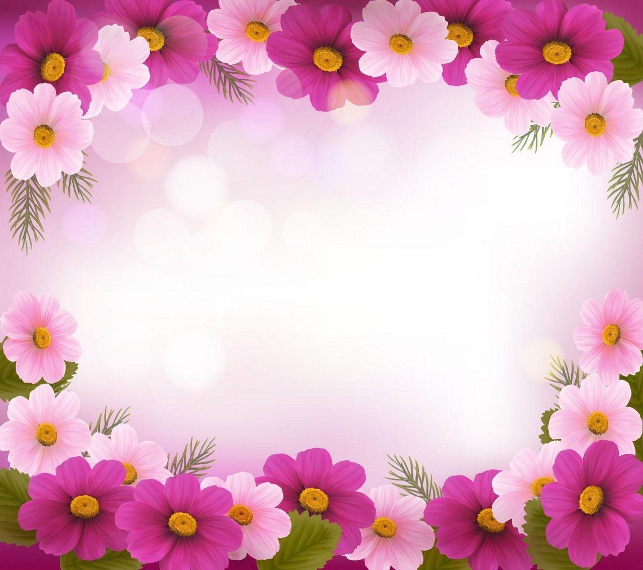 Flower background frame flower plant floral nature
