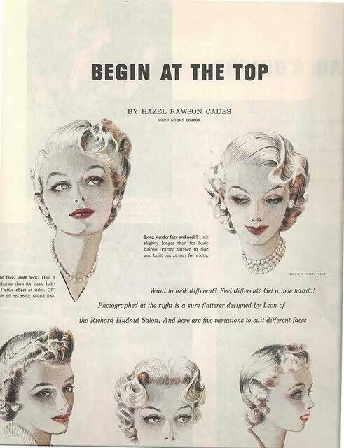 Hair 1950s Vintage Curls Vintage Hairstyles Retro Hairstyles
