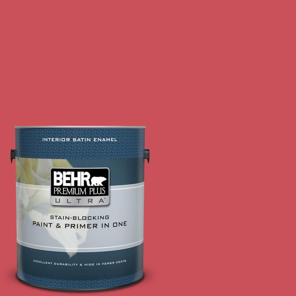 Behr Premium Plus Ultra 1 Gal T15 14 Super Hero Satin Enamel Interior Paint And Primer In One Behr Exterior Paint Interior Paint