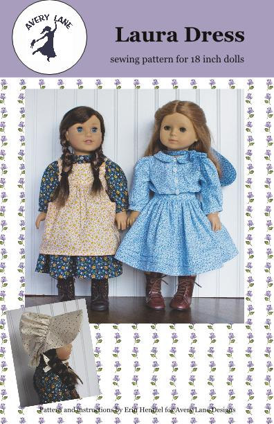 18 inch doll Clothes Sewing Pattern Laura Dress Pattern 18\