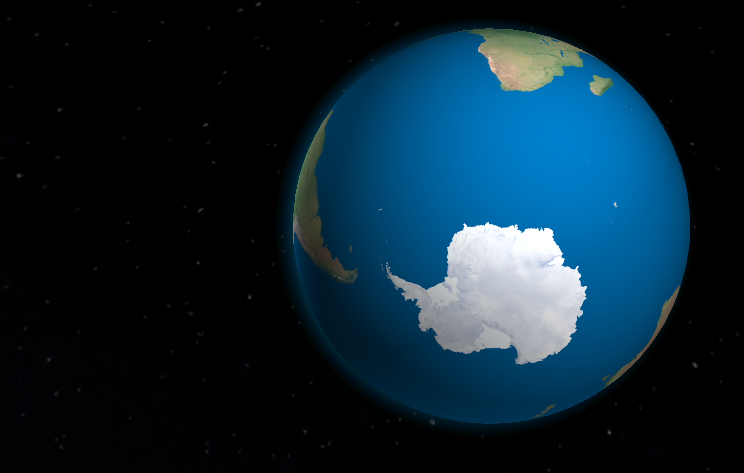 Antarctic space view World heritage sites, Earth from