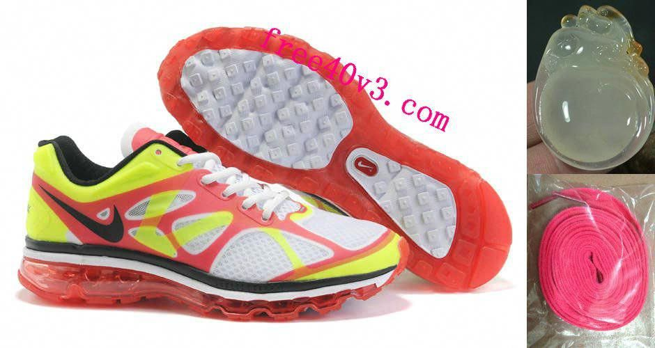 Mens Nike Air Max 2012 White Red Yellow Shoes  Red  Womens  Sneakers ... f5a526595