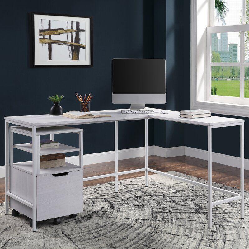 Stormstown L Shaped Desk In 2020 L Shaped Desk White L Shaped Desk Small L Shaped Desk