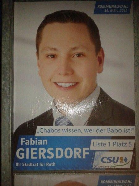Chabos wissen, wer der Babo ist  - Geile Wahlplakate zu gewinnen!