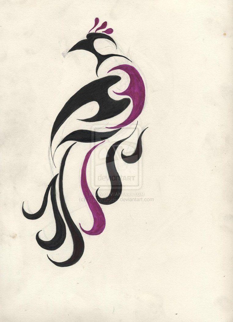 Beautiful Design Of Tribal Bird Paradise Tattoo Bird Of Paradise Tattoo Tribal Bird Tattoos