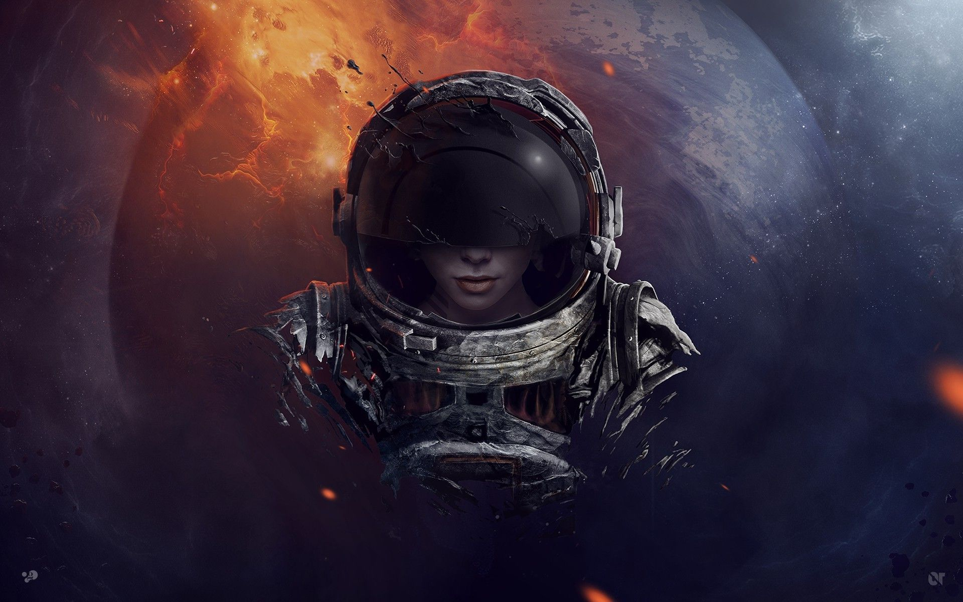 Iphone D Edm Surreal Astronaut Wallpapers High Quality Resolution For