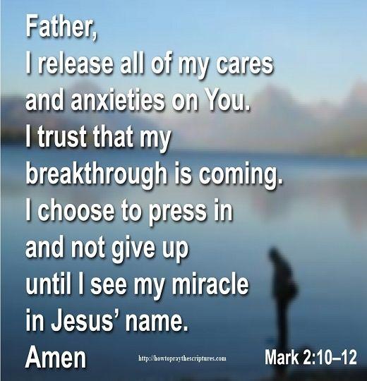 How To Pray Mark 2:10–12
