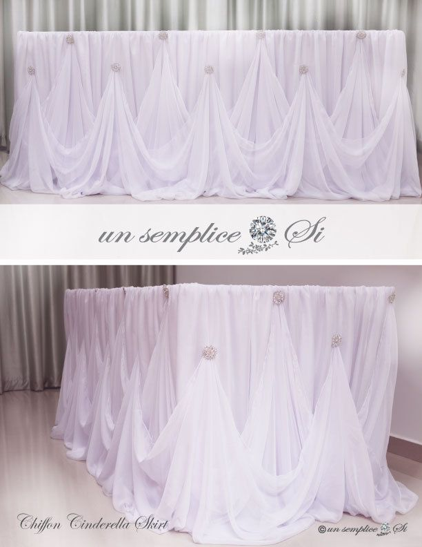 Cinderella Table Skirt By Unsemplicesi On Etsy Head Table