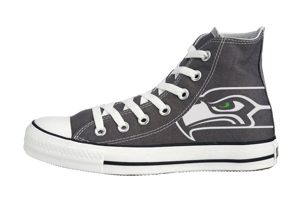41d2557c80b Customized Seattle Seahawks Converse Sneakers