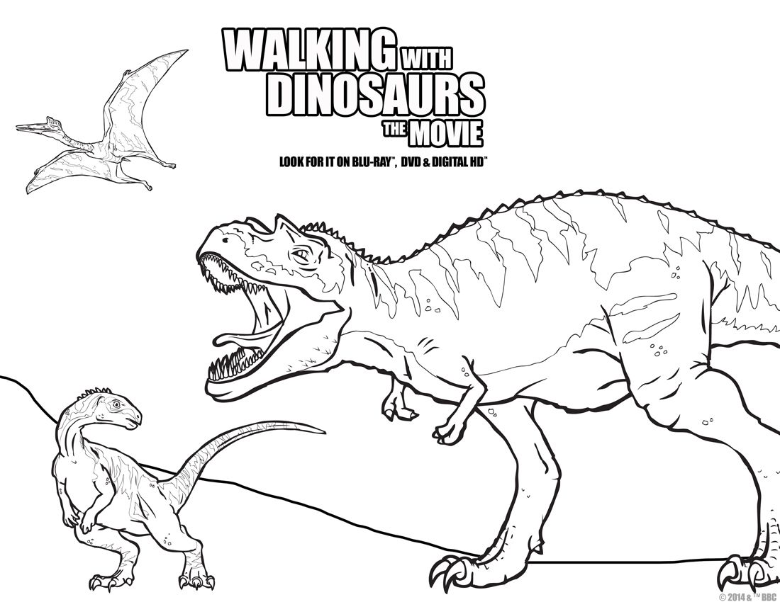 Color in all of your favorite dinosaurs from Walking With Dinosaurs ...
